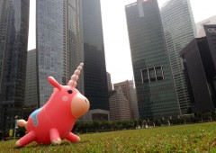 Balloonicorn spotted at The Promontory@Marina Bay