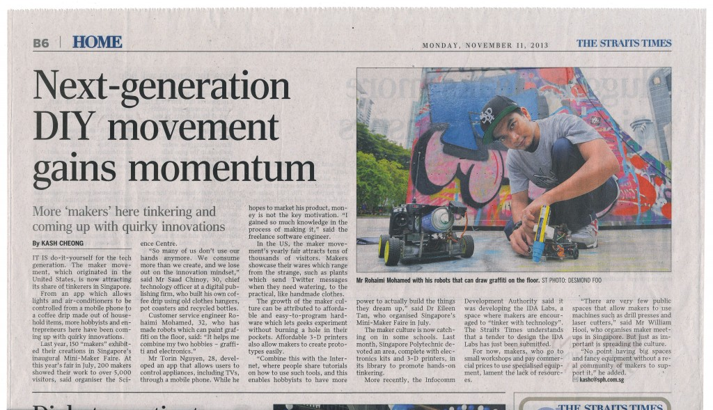 Straits Times Print Article
