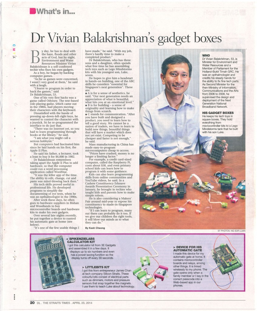Dr Vivian Balakrishnan the Maker